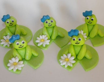 Frog Princes Cupcake or Cake Toppers