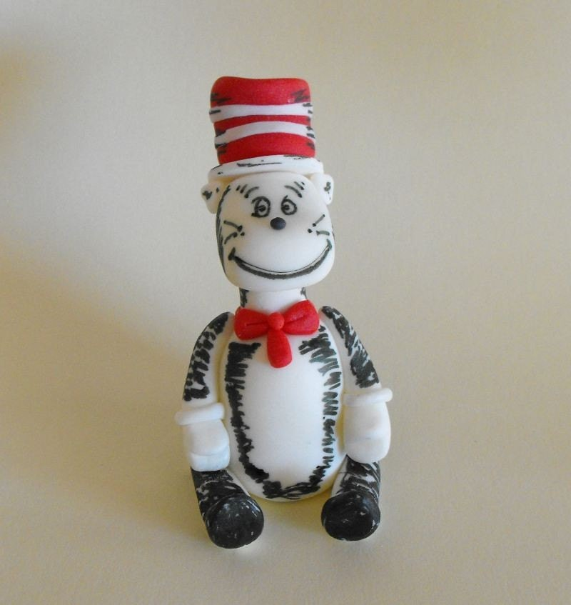 Etsy Cat In The Hat Cake Topper