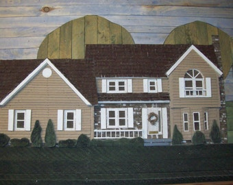 Your home or business in wood relief - lath art - an example