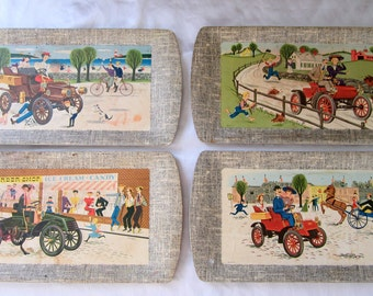 Deluxe Buffet Tray Kentley 1953 Food Lap Serving Auto Vintage Car