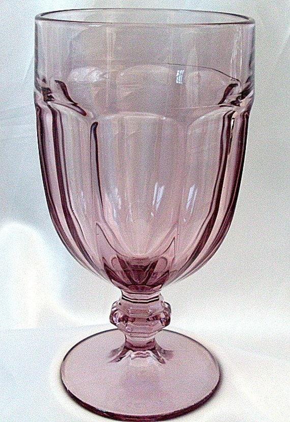 Libbey Duratuff Amethyst Purple Glass Goblet Dura Tuff Usa