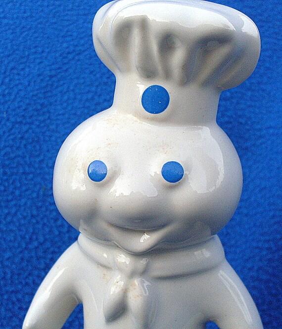 Vintage 1985 Pillsbury Dough Boy Ceramic Bank Collectible