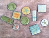 Decorative Magnet Set - On the Beach