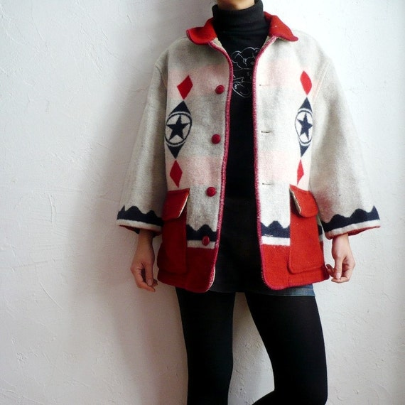 reserved for raya  Vintage Benetton Chunky Wool Jacket
