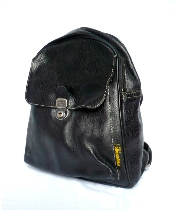 PAQUETAGE French Vintage Black Leather Backpack