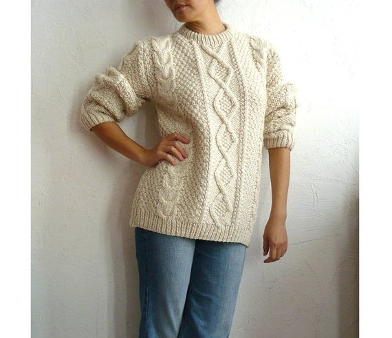 TILDA french Vintage Chunky Wool Kint Sweater