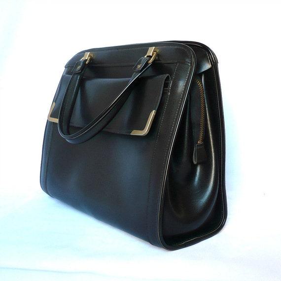 NINA French Vintage 50s Black Handbag