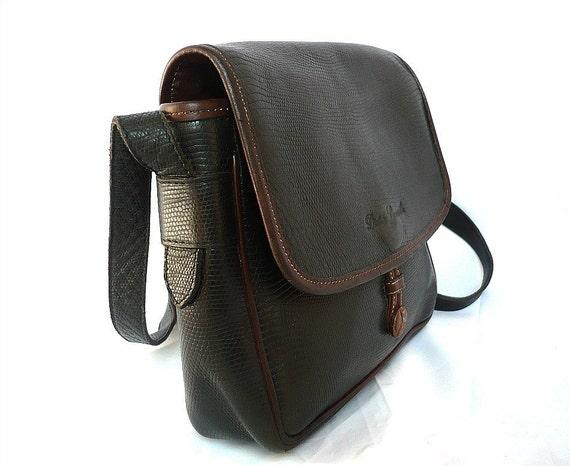 LAMARTHE French Vintage Black Leather Satchel
