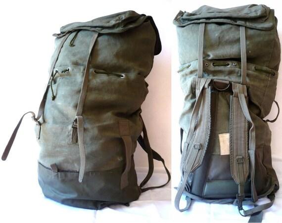 JACK French Vintage Original French Militer Backpack