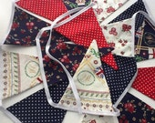 Red White and Blue Bunting -  featuring special edition fabric