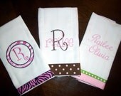 Custom Personalized Burp Cloths