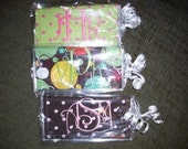 Monogrammed Checkbook cover inserts (Checkbook cover included)