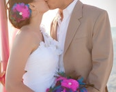 SALE Deposit for Custom Bridal Feather Bouquet w/ matching hairpiece - made to order for YOU