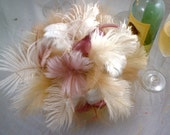 SALE Blushing Bride's Feather Bouquet Made to Order for you