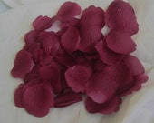 100 Burgundy ARTIFICIAL SILK Rose PETALS for Wedding Decorations