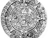 Mayan/Aztec CALENDAR - CLiNG rubber stamp by Cherry Pie Art Stamps