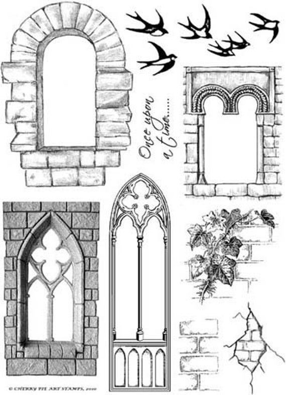 Castle Windows Colouring Pages