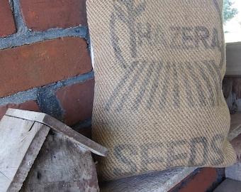 Burlap Hazera Seed pillow