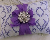 Lace lavender filled pillow