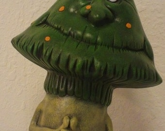 Ceramic Funny Face Mushroom For Your Gnome Garden Ornament