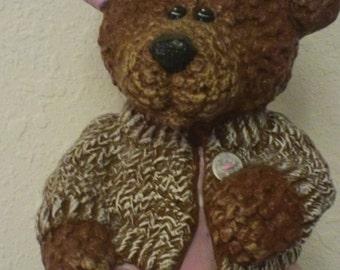 Hand Painted Ceramic Girl Teddy Bear