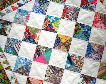 Patchwork Quilt pattern - Perfectly Charming  - Ideal for charm packs - Includes Bonus doll quilt pattern.
