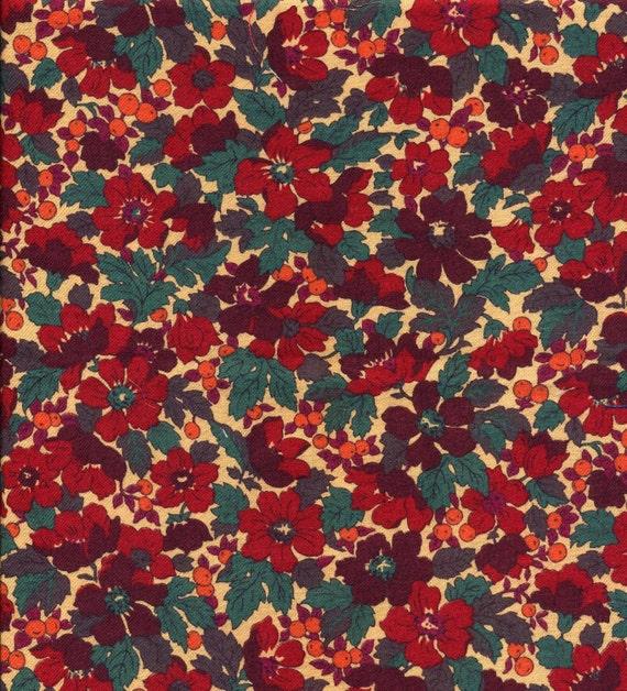 Vintage Liberty fabric - vintage Liberty of London Jubilee fabric - Autumn tones