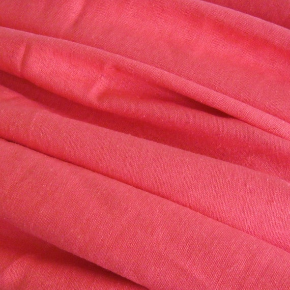 Luscious Coral Pure Linen 2 Yards New Fabric Melon Sorbet Yds Yardage Peach Pink Cloth