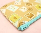 Denmark Stamp mini zipper pouch