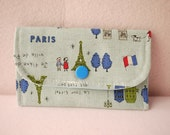 La Tour Eiffel in Blue Mini Snap Wallet