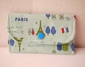 La Tour Eiffel in Blue Mini Snap Wallet
