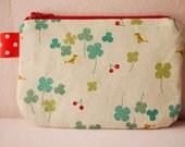 Clover Leaf mini zipper pouch