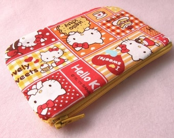 Hello Kitty Mini Zipper Pouch (Red)
