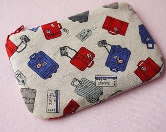 I Love Travel mini zippered pouch