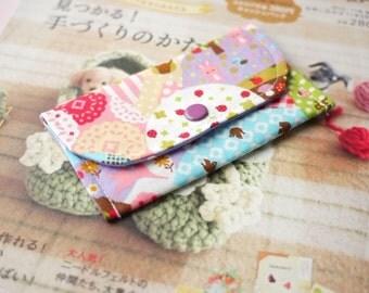 Wonderful Garden Mini Snap Wallet (Purple)
