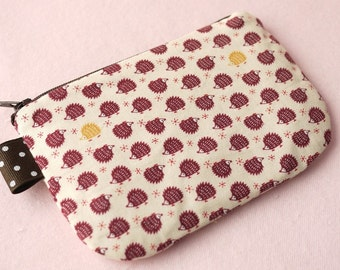 Mini Hedgehog Mini Zipper Pouch