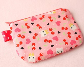 Lovely cat mini zipper pouch
