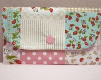 Sweet Strawberry Mini Snap Wallet