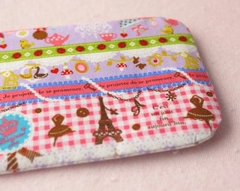 Girly mini zipper pouch