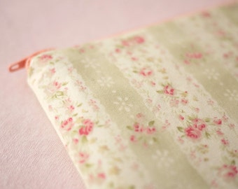 Rose Bushes mini zippered pouch