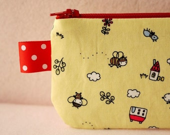 Little bee in small world pencil(pen) pouch