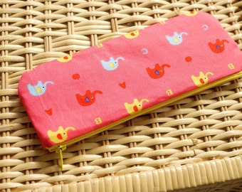Lovely Elephant pencil(pen) pouch (Yellow)