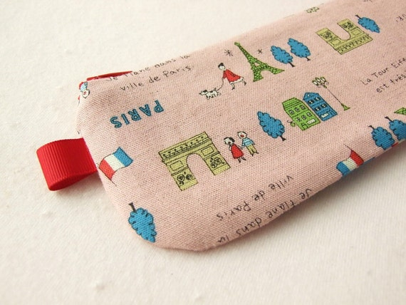 La Tour Eiffel pencil(pen) pouch (Pink)