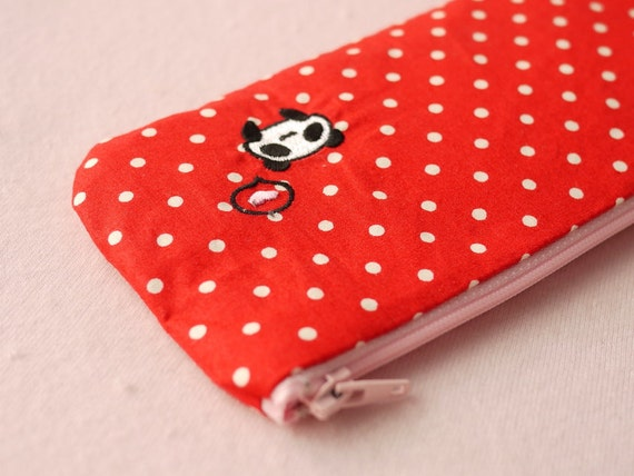 Lindy in red pencil (pen) pouch