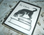 30 cat bookplates in box vintage