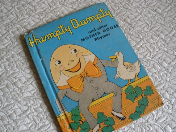 Mother Goose Rhymes and Humpty Dumpty vintage book