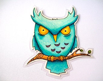 Bookmark or Magnet - Perched Owl