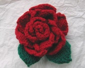 Knitting Pattern ROSE flower by email
