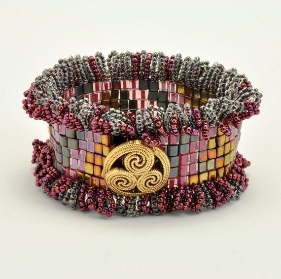 Bead Jewelry Kit - Cuff Bracelet - Rosie Trail