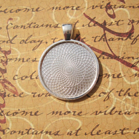 20 Round Silver Pendant Blanks - Inner Dimension: 25mm - 1 inch